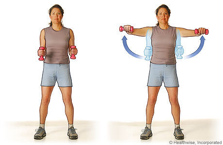 Lateral raise exercise