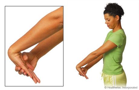 Wrist extensor stretch exercise