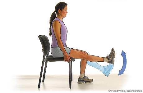 Knee extension (quadricep exercise)