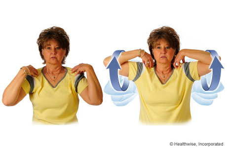 How to do the elbow-circles exercise